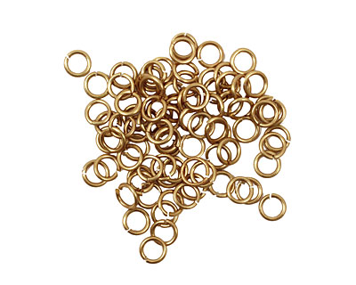 Artistic Wire Non-Tarnish Brass Chain Maille Jump Ring 3.97mm, 18 gauge