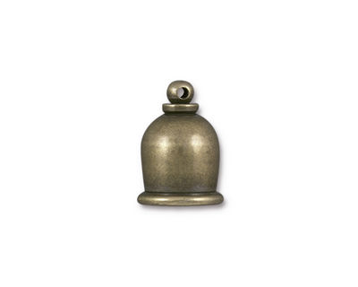 TierraCast Antique Brass (plated) Taj 8mm Cord End 16x12mm