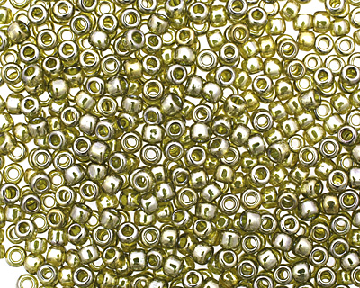 TOHO Gold Lustered Green Tea Round 8/0 Seed Bead