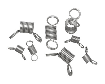 Beadalon Assorted Bead Stopper Coiled Stainless Steel Strand Clip