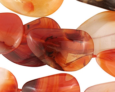Carnelian (natural-orange) Triangular Flat Freeform 41-52mm