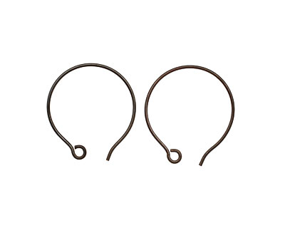 Saki Blackened Bronze Round Loop Earwire 21x23mm