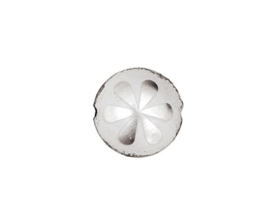 Trinket Foundry Silver Daisy Bottle Cap Puff Coin 15mm