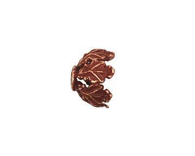 Ezel Findings Antique Copper Leaf Bead Cap 8x13mm