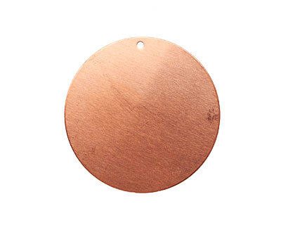 Copper Circle Blank Tag 38mm