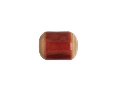 Tagua Nut Rhubarb Bicolor Barrel 23-24x16-17mm