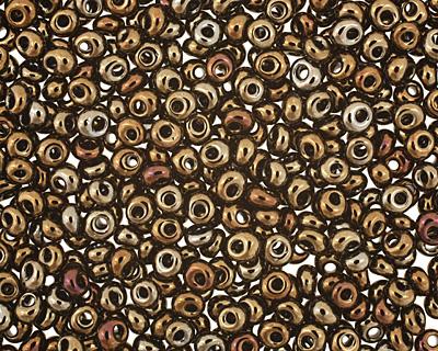 TOHO Metallic Iris Brown Magatama 3mm Seed Bead