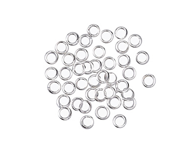 Silver (Plated) Round Jump Ring 3mm, 22 Gauge