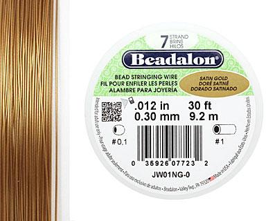 Beadalon Satin Gold .012