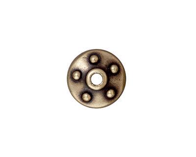 TierraCast Antique Brass (plated) Large Hole Rivet Bead Cap 4x14mm