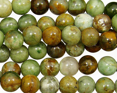 Petrified Green Opal Round 8mm