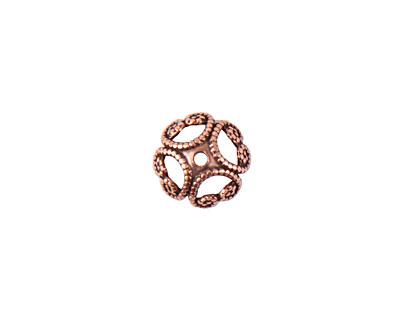 Nunn Design Antique Copper (plated) 8mm Filigree Bead Cap 3x8mm