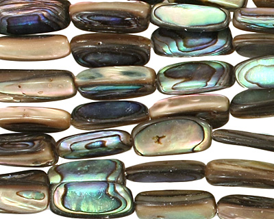 Abalone Irregular Thin Pillow 15-17x6-9mm