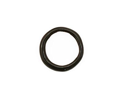 C-Koop Enameled Metal Black Large Ring 16-17mm