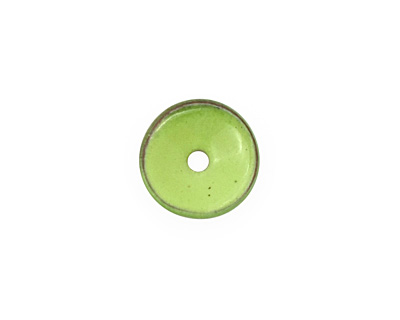 C-Koop Enameled Metal Lime Chip 3-4x12-13mm
