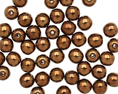 Czech Glass Dark Bronze Round 6mm