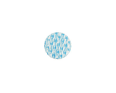 Lillypilly Turquoise Reeds Anodized Aluminum Disc 11mm, 24 gauge
