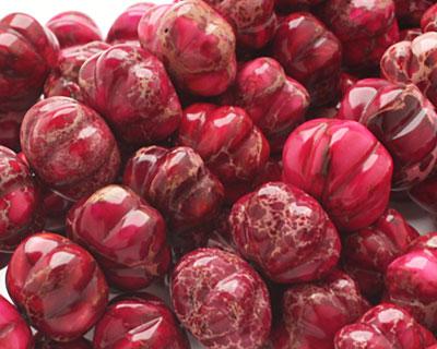 Ruby Impression Jasper Pumpkin 13x18mm