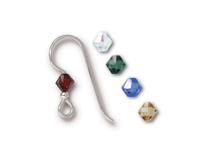 TierraCast Sterling Silver Holiday Crystal Mix Earwire