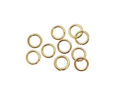 Satin Hamilton Gold (plated) Round Jump Ring 6mm, 21 gauge