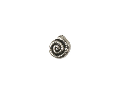 Green Girl Pewter Tiny Snail Shell 9mm