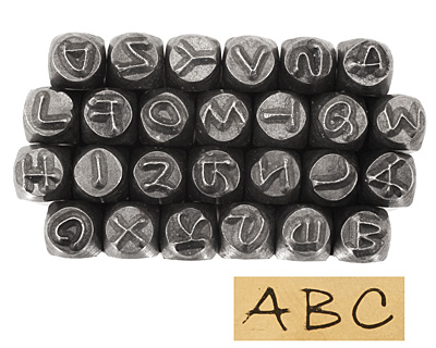 Bradley Uppercase Letters Metal Stamp Set 2.5mm