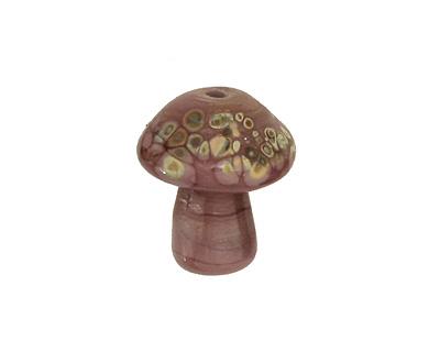 The BeadsNest Lampwork Glass Purple Mushroom 18-20x16-18mm