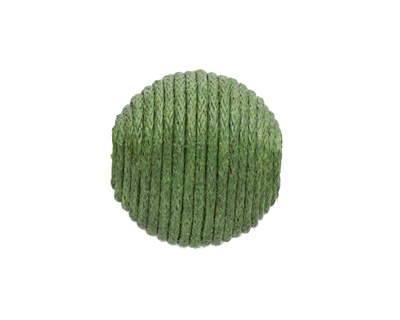 Forest Green Thread Wrapped Bead 18mm