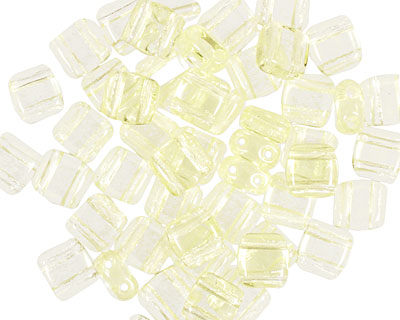 CzechMates Glass Jonquil 2-Hole Tile 6mm