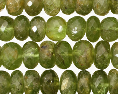 Peridot Faceted Rondelle 4-7x10mm