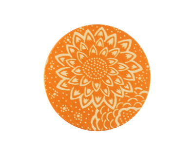 Lillypilly Orange Dahlia Anodized Aluminum Disc 25mm, 24 gauge