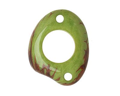 Tagua Nut Apple Open Slice Link 40-48x32-40mm