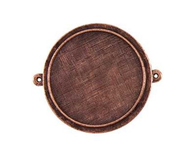 Nunn Design Antique Copper (plated) Raised Bezel Large Circle Link 44x38mm
