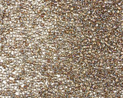 TOHO Rainbow Black Diamond (with Gold Lining) Round 15/0 Seed Bead