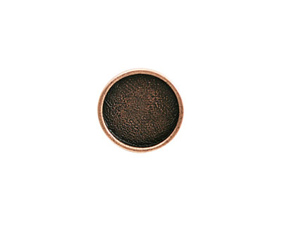 Nunn Design Antique Copper (plated) Mini Circle Screw Back Bezel 15mm
