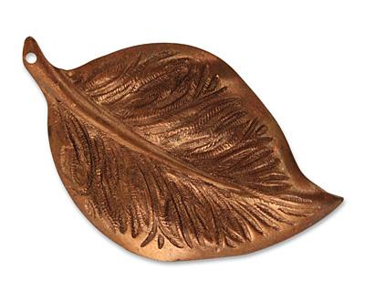 Vintaj Artisan Copper Mission Leaf Pendant 32x53mm