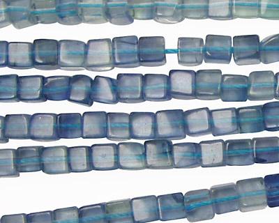 Blue Green Fluorite Cube 4mm