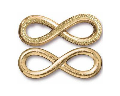 TierraCast Gold (plated) Infinity Link 32x12mm