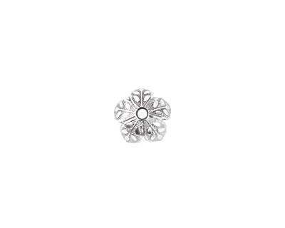 Nunn Design Sterling Silver (plated) 8mm Etched Daisy Bead Cap 4x9mm