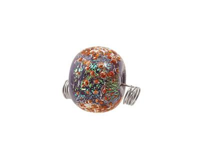 Unicorne Beads Enchanted Sea w/ Copper Rondelle 16x20mm