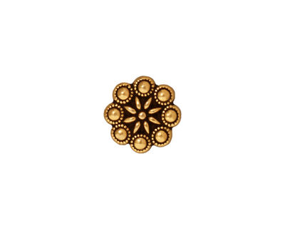 TierraCast Antique Gold (plated) Czech Rosette Button 11mm