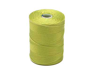 C-Lon Chartreuse Micro (.12mm) Bead Cord