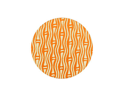 Lillypilly Orange Reeds Anodized Aluminum Disc 25mm, 24 gauge