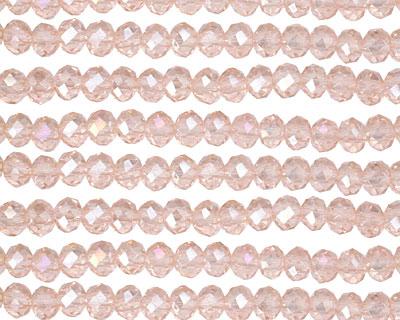Rosaline AB Crystal Faceted Rondelle 4mm