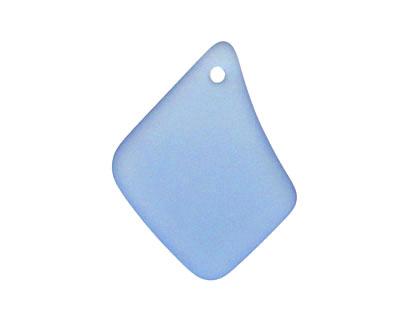 Light Sapphire Recycled Glass Freeform Drop 16-23x25-30mm