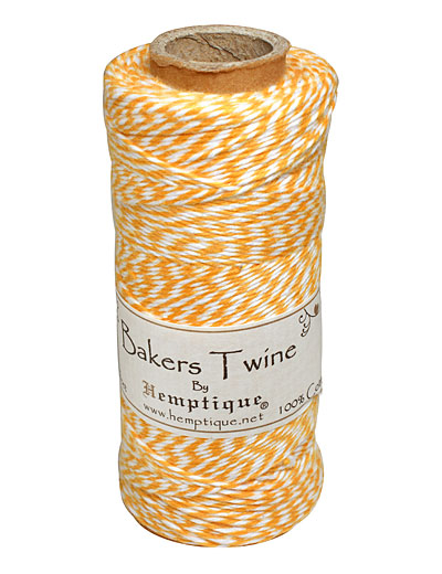 Yellow/White Bakers Twine 2 ply, 410 ft