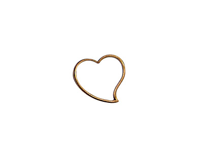 Stampt Antique Copper (plated) Cutout Heart 12mm