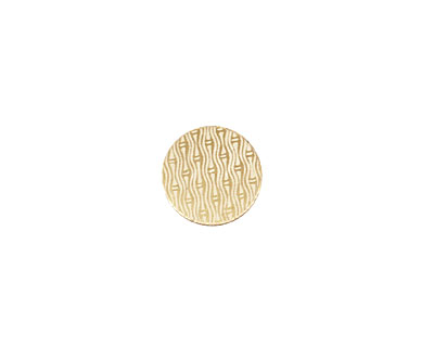 Lillypilly Gold Reeds Anodized Aluminum Disc 11mm, 22 gauge
