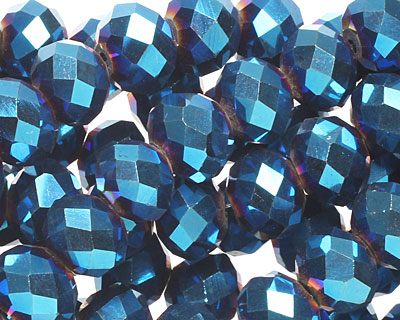 Metallic Cosmos Crystal Faceted Rondelle 10mm