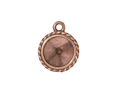 TierraCast Antique Copper (plated) Twisted Round Frame 16x20mm